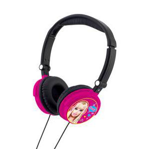 Casque audio filaire Barbie - Plastique - 15,8 x 7,2 x H 18,7 cm - Rose