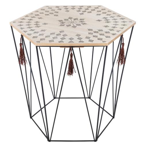 Table A Cafe Kumi Gris Marron Meubles De Salon La Foir Fouille
