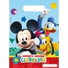 Lot de 6 sacs de fête Playful Mickey en PEBD - 18 x 29 cm - Multicolore