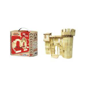 Jeu construction 100 blocs - Bois - Marron