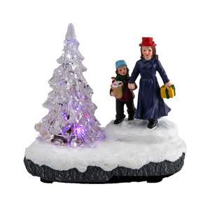 Personnage village sapin Led