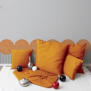 Coussin déhoussable- 100% polyester - 40 x 40 cm - Orange