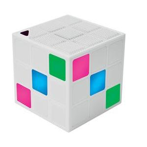 Enceinte Bluetooth - Plastique - 7,3 x 7,3 x 7,3 cm - Multicolore