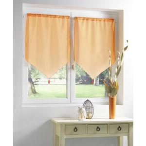 Paire de vitrages Candy en polyester - 70 x 90 cm - Orange mangue