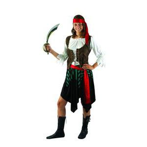 Costume adulte femme pirate jupe en polyester - L - XL - Multicolore
