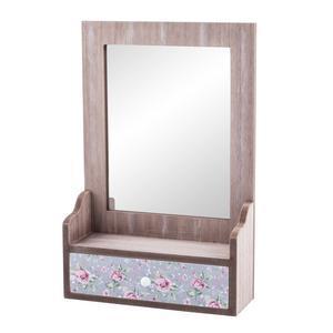miroir coiffeuse floral mdf 23 x 8 x h 35 cm multicolore