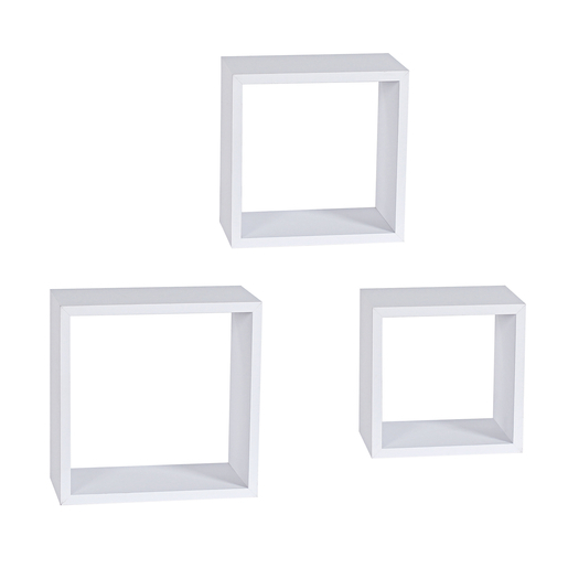 Etagère Murale 3 Cubes Blanc Meubles De Salon La Foir