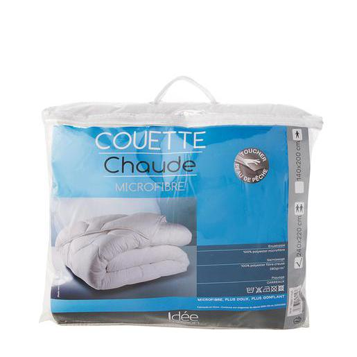 Couette chaude - 100 % polyester - 140 x 200 cm - Blanc