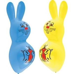Lot de 2 ballons lapins - Latex - 45 cm - Multicolore