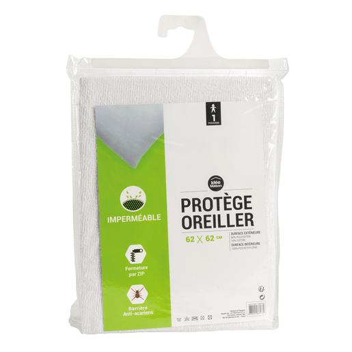 protège oreiller imperméable Protège oreiller imperméable   62 x 62 cm   Linge de lit | La Foir  protège oreiller imperméable