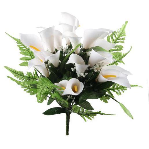 Coloriage Fleur Arum.Bouquet De 23 Arums Plastique Et Polyester Blanc Fleurs