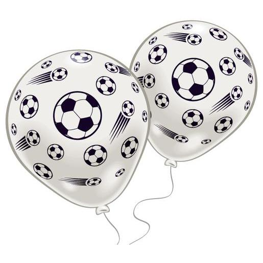 Lot de 10 ballons foot - Latex - 25 cm - Blanc et noir