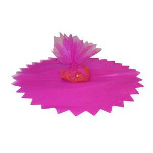 10 ronds en voile brillants - ø 24 cm - Polyester - Rose