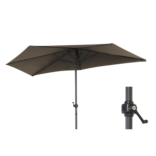 Parasol Pour Balcon Alu Polyester Marron Parasols Pieds De Parasols Et Voiles D Ombrage La Foir Fouille