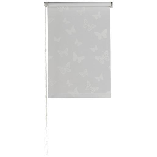 Store enrouleur tamisant imprimé papillon- 45 x 180 cm - Blanc ...