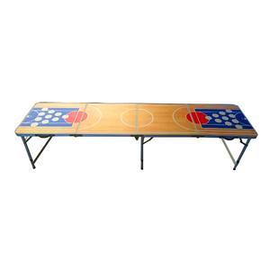Table à Beer Pong - Aluminium et mélaminé - Multicolore - 240 x 60 cm