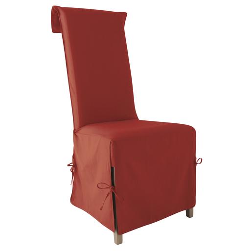 Housse Chaise En Coton 40x40x72cm Rouge Hermes
