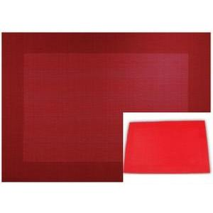 Set de table - PVC - 30 x 45 cm - Rouge