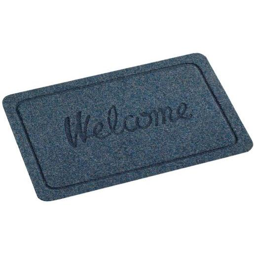Tapis Welcome - Polypropylène - 60 x 40 cm - Noir, bleu ou marron