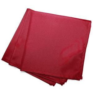 3 serviettes de table unies Essentiel - L 40 x l 40 cm - Rouge