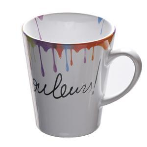 Mug conique en grès - 33 cl - Multicolore