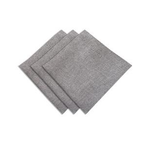 Lot de 3 serviettes de table- 45 x 45 cm - Bella gris