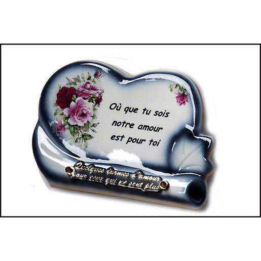 Plaque - Porcelaine - 18 x 25 cm - Multicolore