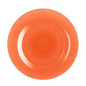 Assiette Techno Colors - Verre - Ø 25 cm - Orange