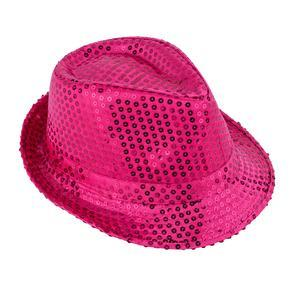 Chapeau à sequins - Rose
