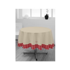 Nappe ronde collection Vosges - Diamètre 180 cm - Rouge