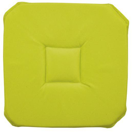 Galette de chaise - Polyester - 36 x 36 cm - Vert anis