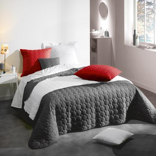 Couvre-lit 2 personnes - 220 x 240 cm - Gris