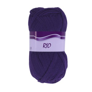 Pelote collection Rio 100 g - 60 m - Violet prune