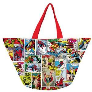 Grand sac Marvel - Polyester - 57 x 30 x 33 cm - Multicolore