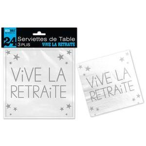Serviettes de table retraite