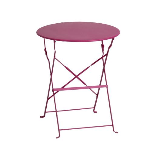 Table Diana ronde - Rose - Mobilier de jardin | La Foir\'Fouille