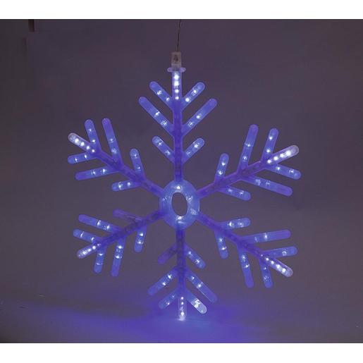 Flocon lumineux , Bleu et blanc , Décoration lumineuse de