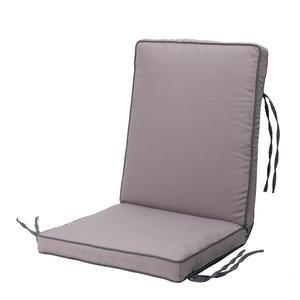 Coussin assise + dossier - Gris
