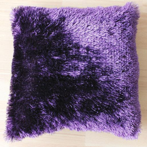 Coussin - 100 % polyester - 40 x 40 cm - Violet