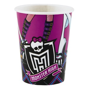 Lot de 8 gobelets plastique Monster High - 25 cl - Multicolore