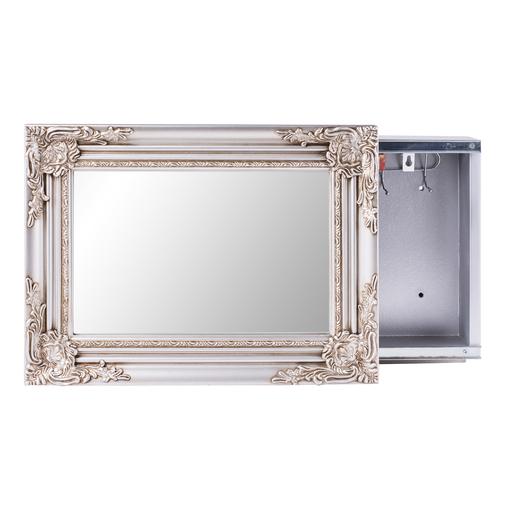 Armoire miroir paulownia verre gris miroirs la for Miroir la foir fouille