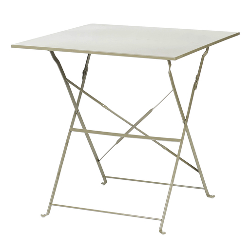Table pliante - Acier - Marron - Mobilier de jardin | La Foir\'Fouille