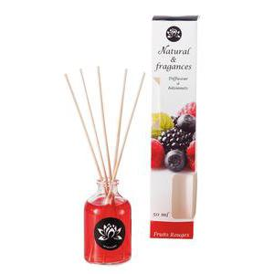 Diffuseur parfum fruits rouges - 50 ml - Rouge