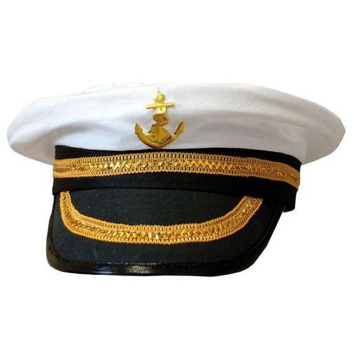 réflexions sur mode attrayante baskets Casquette de capitaine en polyester - Blanc - Chapeaux de ...
