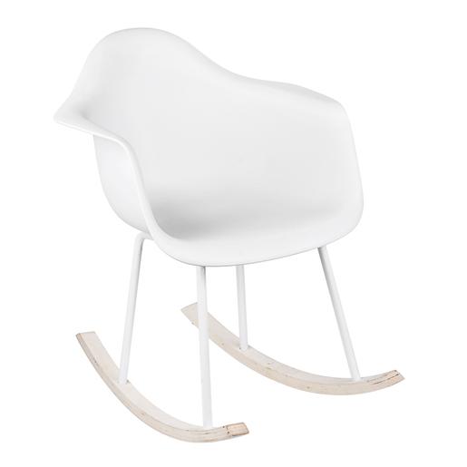 Chaise à Bascule Vic Blanc Meubles De Salon La Foirfouille