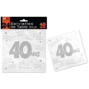 Serviettes de table 40 ans