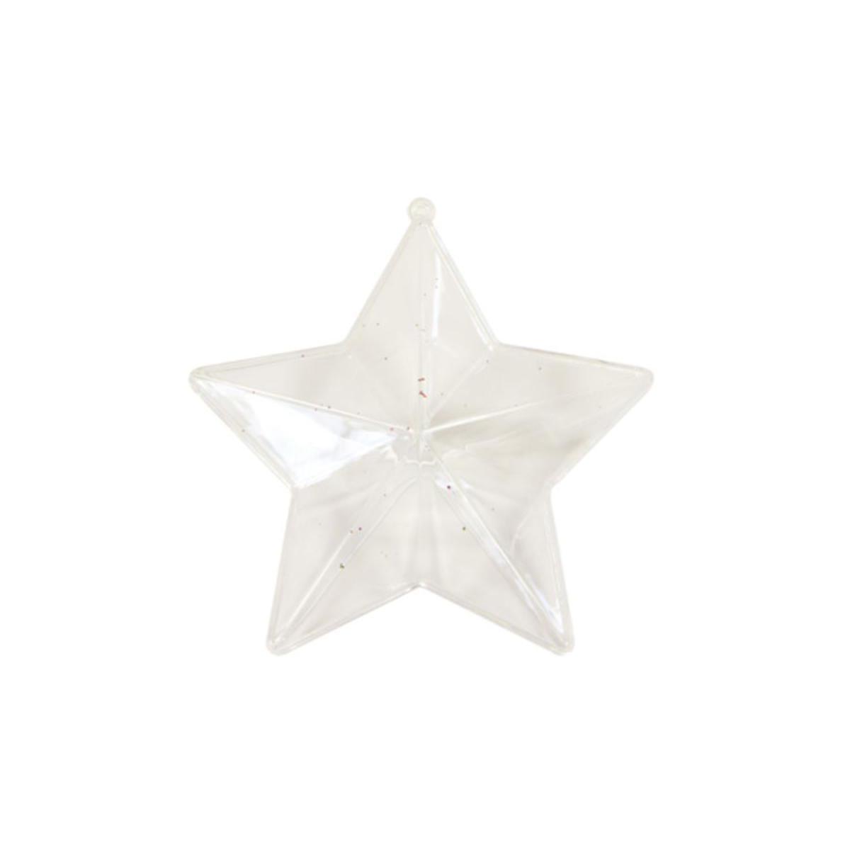 Boite étoile Plastique Transparent Boîtes De Décoration La Foir Fouille