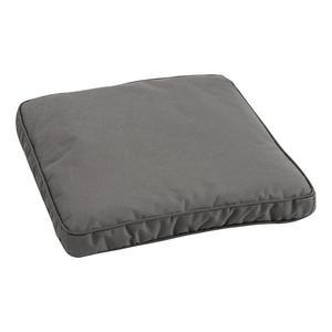 Galette de chaise - 100 % Polyester - 40 x 40 cm - Anthracite