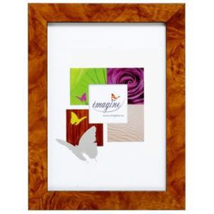 Porte-photo Paola en plastique - 27,2 x 21,2 cm  - Marron
