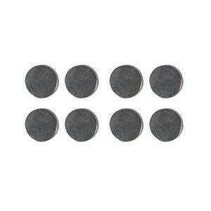 Lot de 8 aimants forts - 10 mm - Gris